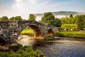 Фото бесплатно мост, Сноудония, Llanrwst