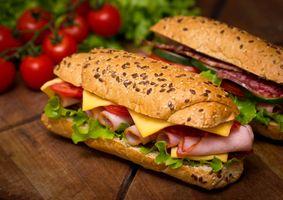 Фото бесплатно бутерброд, сыр, овощи