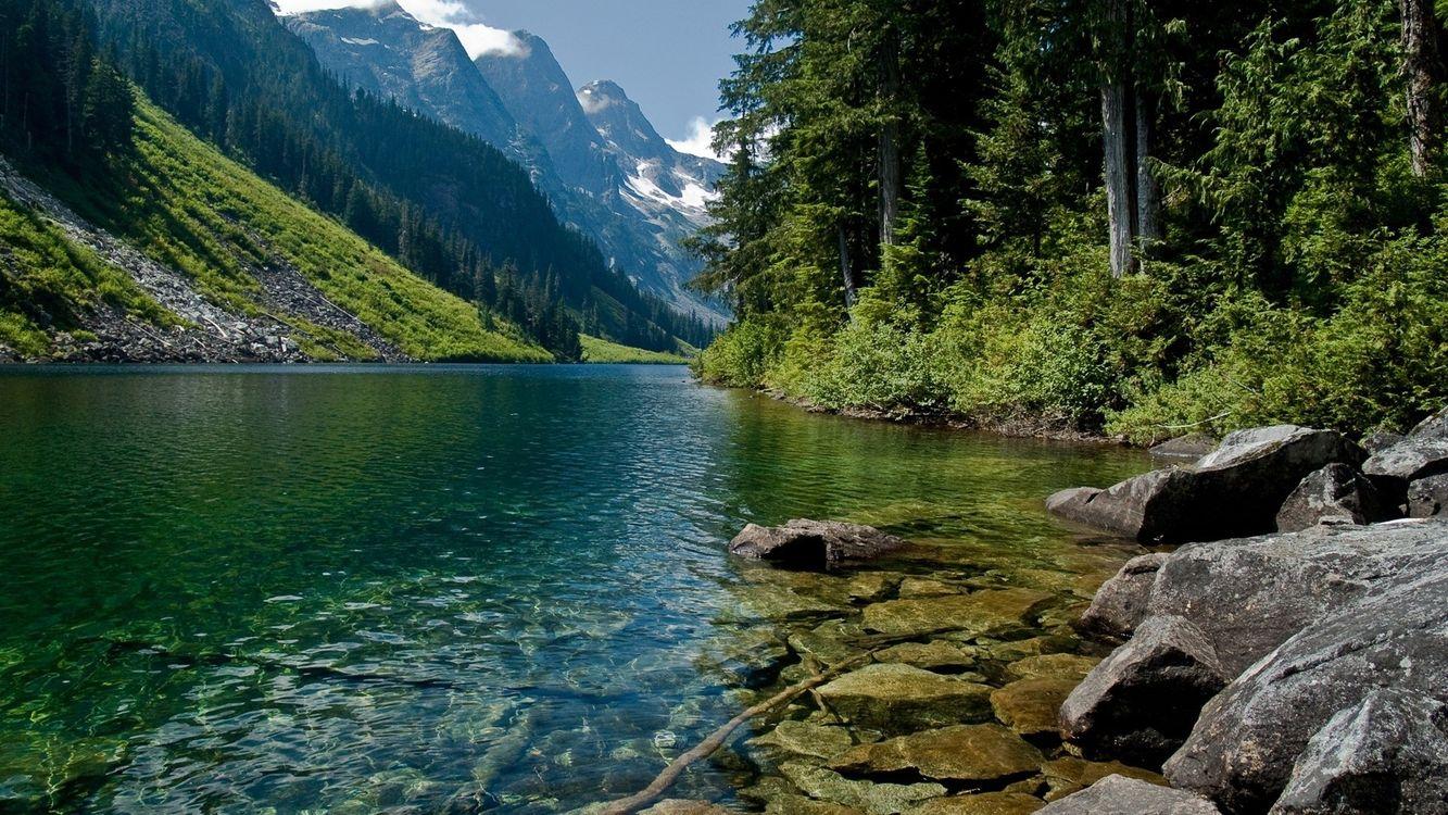 Фото бесплатно горы, природа, реки - на рабочий стол