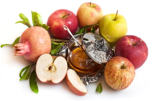 Photo free apples, honey, pomegranate