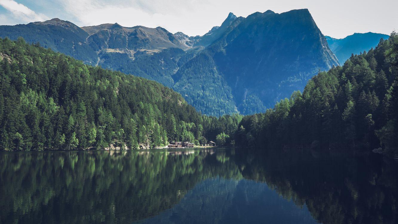 Фото бесплатно пейзаж, долина, деревья - на рабочий стол