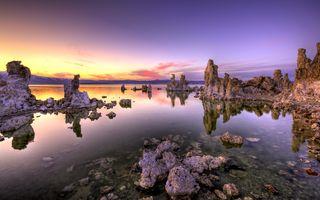 Фото бесплатно закат, обои, озеро