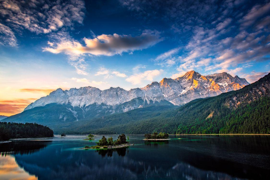 Фото бесплатно Eibsee, Zugspitze, Garmisch-Partenkirchen - на рабочий стол