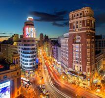 Ночной Мадрид · бесплатное фото
