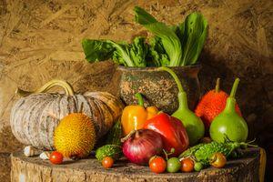 Натюрморт с овощами · бесплатное фото