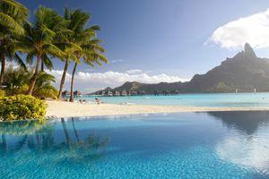 Фото бесплатно тропические, пальмы, пейзаж, пляж