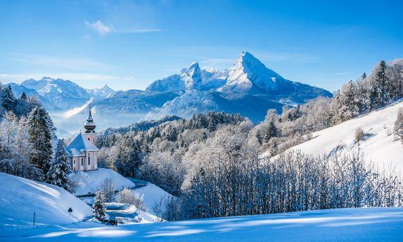 Photo free temple, winter, snow