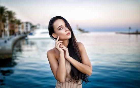 Заставки Анжелина Петрова, модель, гладкая кожа