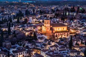Бесплатные фото Granada,Гранада,Испания,Церковь Спасителя Albaic n,город,ночь,иллюминация