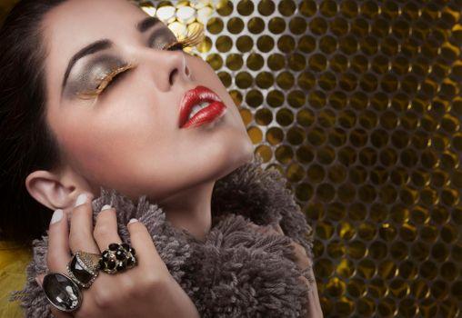 Photo free glamor, makeup, pose