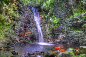 Фото бесплатно Англия, Водопады, Камни