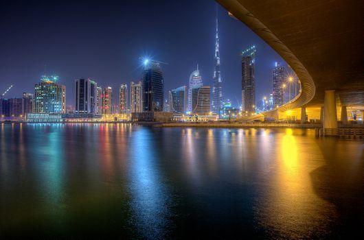 Photo free United Arab Emirates, night, Downtown Dubai