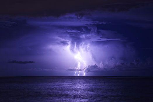 Photo free sea, storm, sky
