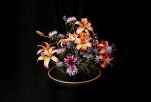Заставки ваза, букет, лилии