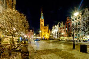 Фото бесплатно ночные города, город, огни