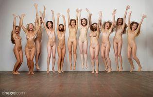 Фото бесплатно Морин, Hegre Naked Soccer Team, фотосессия