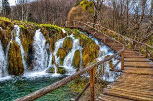 Заставки Плитвицкие озера,Национальный парк Плитвицкие озера,Plitvice Lakes national park,Croatia,Хорватия водопад