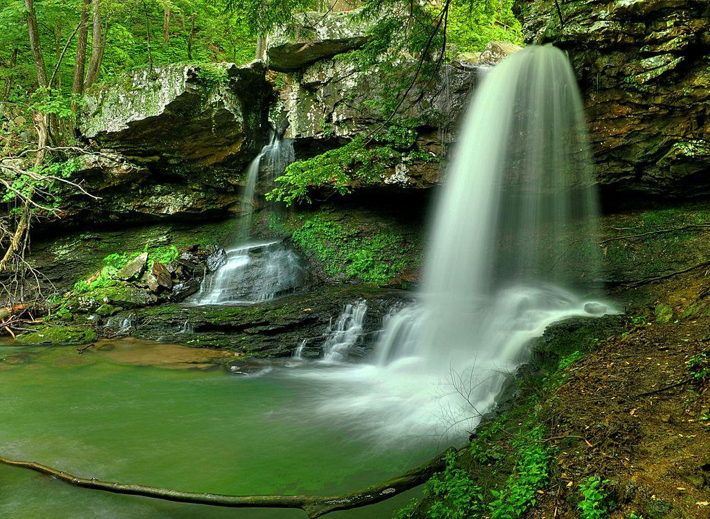 Фото бесплатно старая скала, нетронутая природа, водопад - на рабочий стол