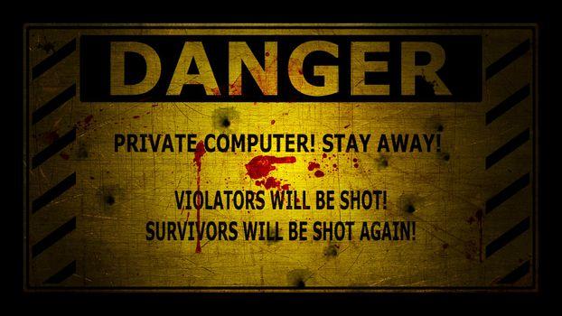 Фото бесплатно опасность, табличка, предупреждение