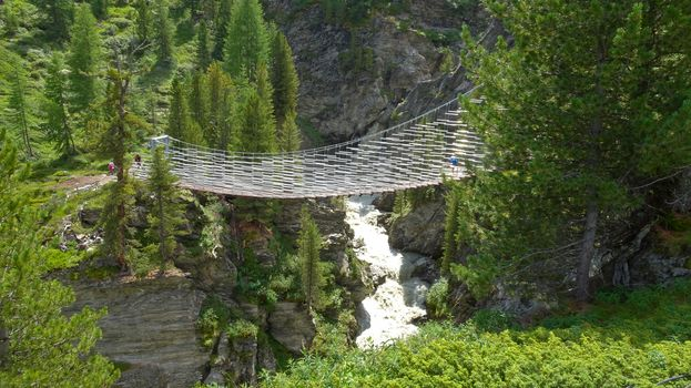 Photo free suspension, bridge, gorge