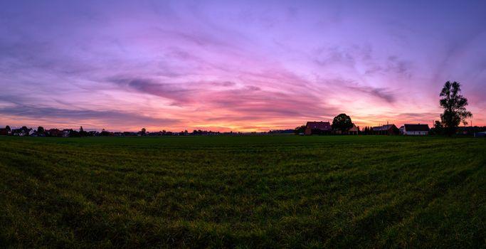 Фото бесплатно Польша, поле, восход солнца