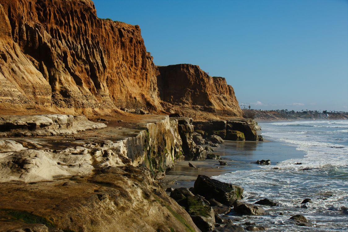 Фото бесплатно Скала, океан, сан-диего - на рабочий стол