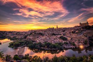 Фото бесплатно городской пейзаж, закат, Толедо