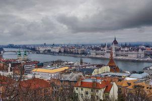 Фото бесплатно Будапешт, Будайский холм, Дунай, парламент, зима, Венгрия
