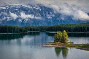 Photo free Two Jack Lake, Banff National Park, lake