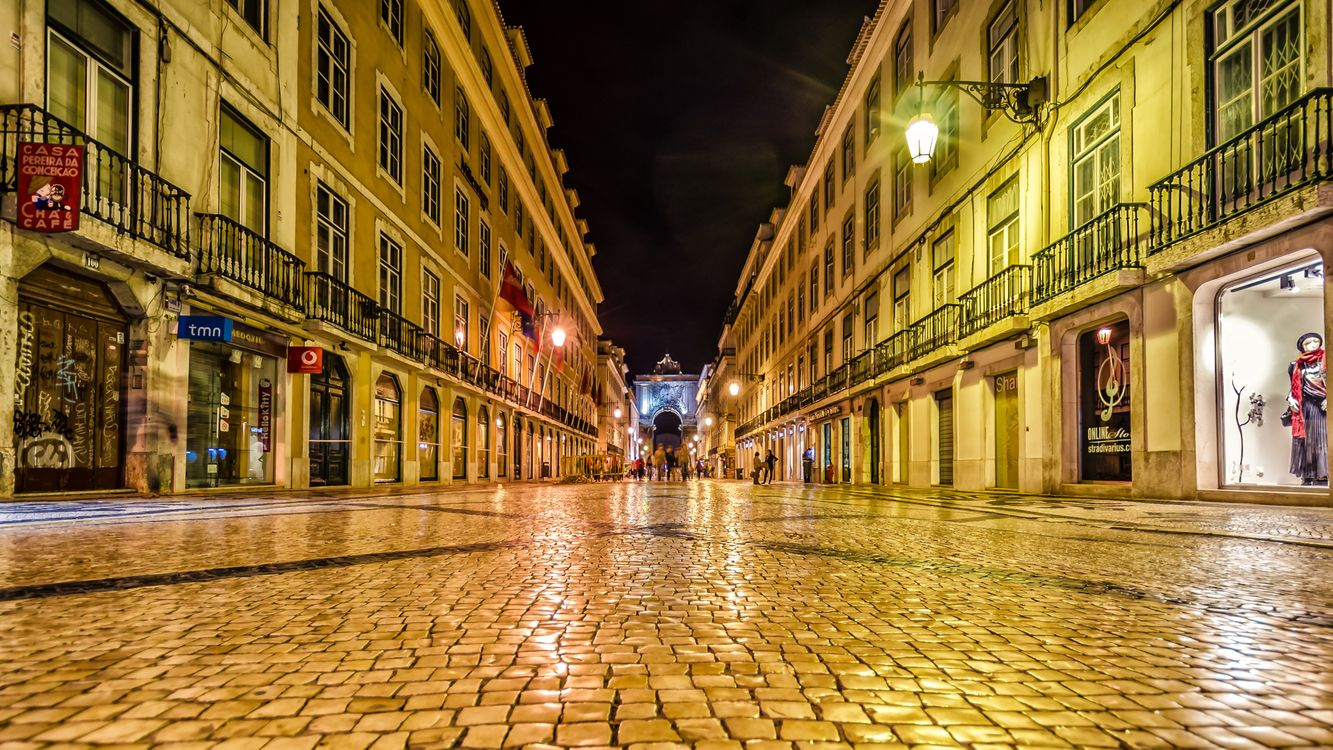 Фото бесплатно Улица Августа, Лиссабон, Augusta Street - на рабочий стол
