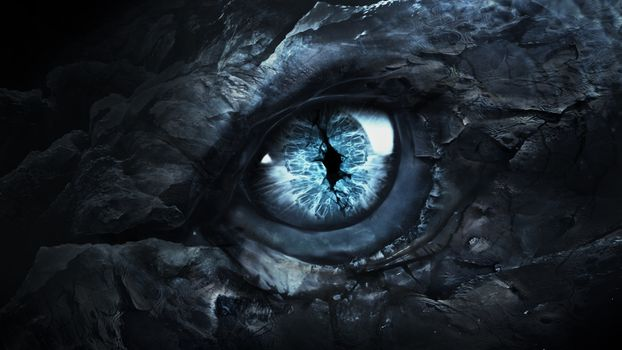 Photo free eye of the dragon, blue, magic