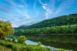 Бесплатные фото река Саскуэханна, штат Пенсильвания, США, река, лес, деревья, пейзаж