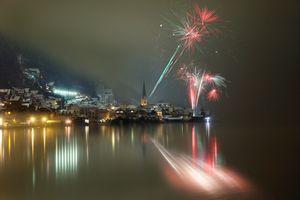 Фото бесплатно фейерверк, ночь, праздник