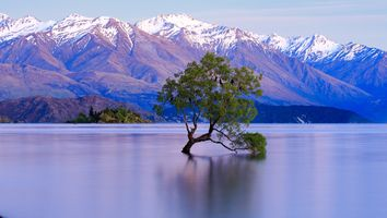 Бесплатные фото Уанака,Новая Зеландия,Восход,закат,озеро,горы,природа