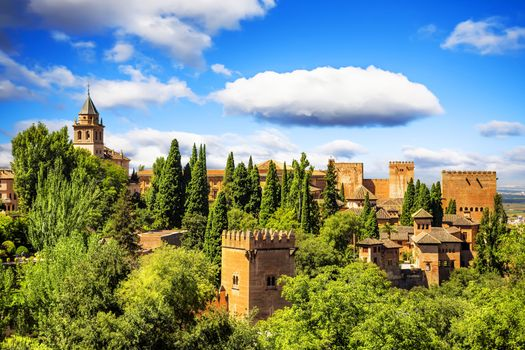 Photo free Ancient arabic fortress of Alhambra, Granada, Spain