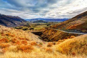Photo free clouds, fields, hills