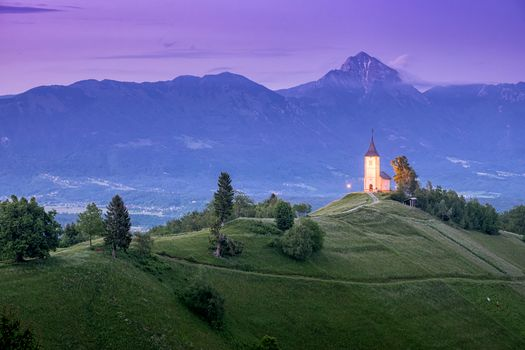 Photo free Slovenia, landscape, Jamnik Church