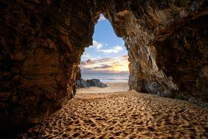 Бесплатные фото Пещера Бойехгтер-Бэй,Мельмор-Хед,Полуостров Росквилле,графство Донегал,Ирландия,скалы,море