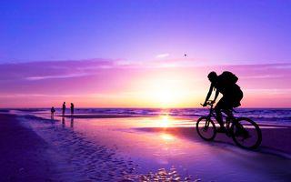 Фото бесплатно пляжи, велосипеды, дощатый настил