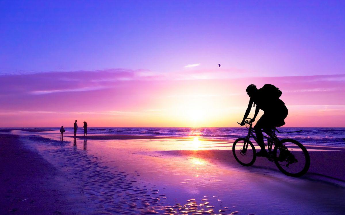 Фото бесплатно пляжи, велосипеды, дощатый настил - на рабочий стол