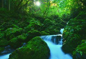 Заставки пейзаж, камни, река