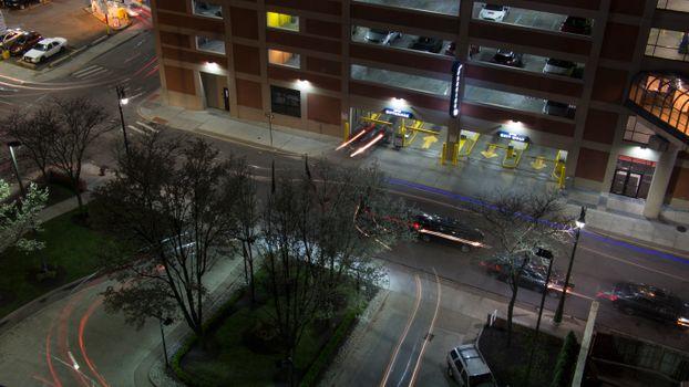 Бесплатные фото Детройт,ночь,город,светофоры