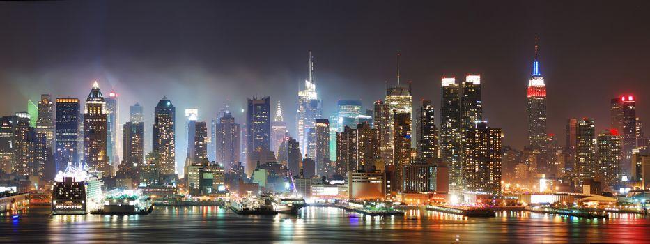 Ночной большой город · бесплатное фото
