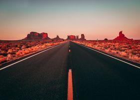 Фото бесплатно закат, синий, Уоррен