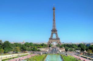 Фото бесплатно Eiffel Tower, Paris, Эйфелева Башня