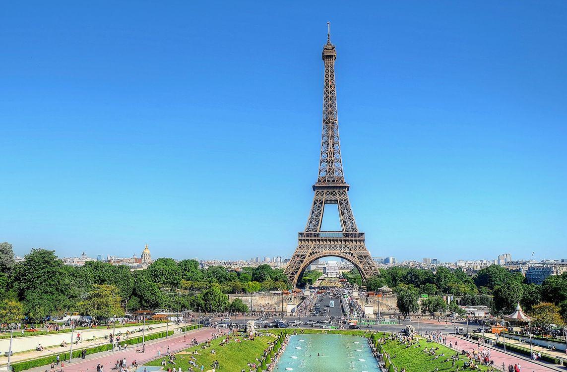 Фото бесплатно Eiffel Tower, Paris, Эйфелева Башня - на рабочий стол