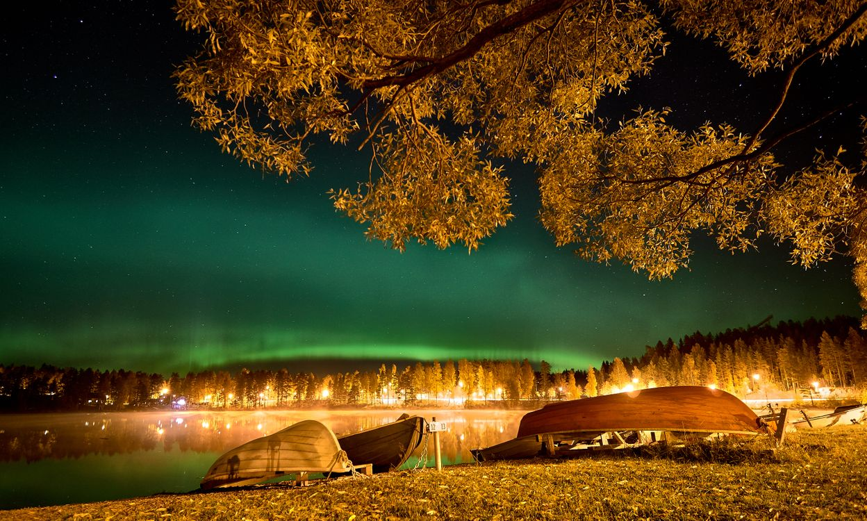 Фото бесплатно Kankarisvesi, Finland, сумерки - на рабочий стол