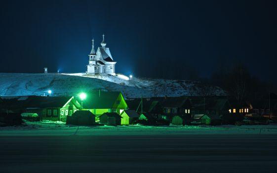 Photo free night, church, temple