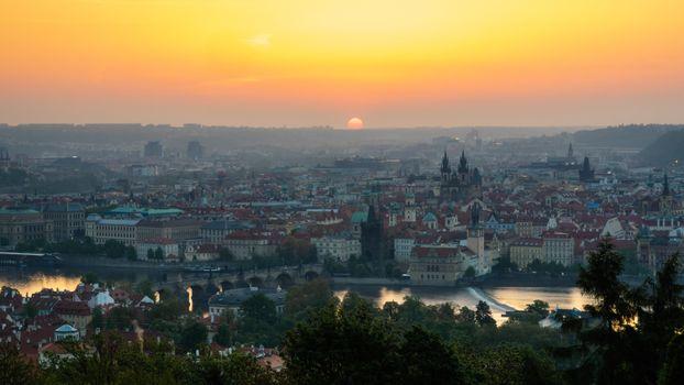 Фото бесплатно Прага, закат солнца, Чехия