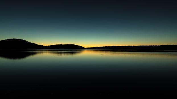 Photo free lake, horizon, sunrise